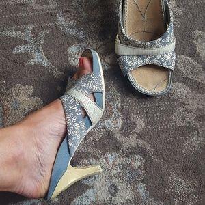 Diesel blue slide sandal heel size 7.5